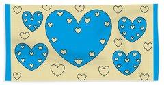 Just Hearts 4 Beach Sheet by Linda Velasquez