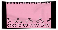 'just Hearts 8' Beach Towel