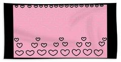 'just Hearts 8' Beach Sheet