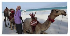 Just Married Camels Kenya Beach Beach Towel