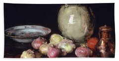 Just Onions, 1912 Beach Sheet by William Merritt Chase