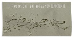 Just Quote Beach Towel