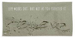 Just Quote Beach Sheet