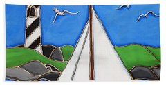 Just Sailing By Beach Towel