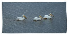 Triple Pelicans Lake John Swa Co Beach Towel