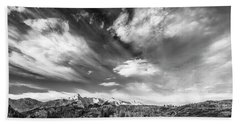 Beach Towel featuring the photograph Just The Clouds by Jon Glaser