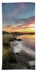 Just The Two Of Us At Sunset Beach Towel by Phil Mancuso