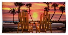 Beach Towel featuring the photograph Just The Two Of Us by Debra and Dave Vanderlaan