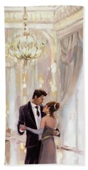 Beach Towel featuring the painting Just The Two Of Us by Steve Henderson
