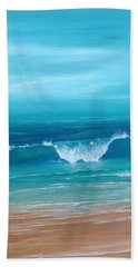 Just Waving Beach Towel by T Fry-Green