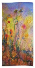 Just Weeds Beach Towel by Mary Schiros
