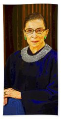 Justice Ginsburg Beach Towel