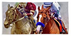 Justify In The Lead Beach Towel