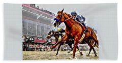 Justify Wins Preakness Beach Towel