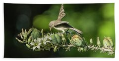 Juvenile Verdin 1870 Beach Towel by Tam Ryan