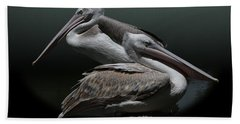 Juxtaposition - Pelicans Beach Towel