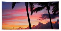 Kaanapali Sunset  Kaanapali  Maui Hawaii Beach Towel