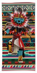 Kachina Doll Art Beach Towel