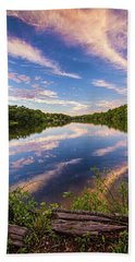 Kahler's Pond Clouds Beach Towel