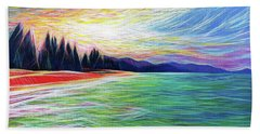 Beach Towel featuring the painting Kailua Surreal by Angela Treat Lyon