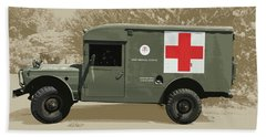 Kaiser Jeep M725 Army Beach Towel