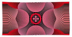 Beach Towel featuring the digital art Kal - 37bc77 by Variance Collections