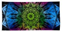Beach Towel featuring the digital art Kaleidoscope - Colorful by Deleas Kilgore