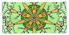 Kaleidoscope Deer Beach Towel by Debra Baldwin