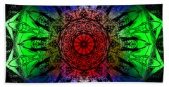 Beach Towel featuring the digital art Kaleidoscope by Deleas Kilgore