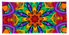 Kaleidoscope Flower 01 Beach Towel