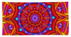 Kaleidoscope Flower 02 Beach Towel