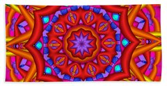 Kaleidoscope Flower 02 Beach Towel