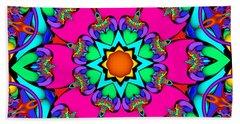 Kaleidoscope Flower 03 Beach Towel
