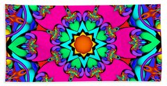 Kaleidoscope Flower 03 Beach Towel