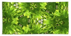 Kaleidoscope Flower Beach Towel