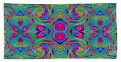 Kaleidoscope Heart Beach Sheet
