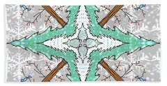 Kaleidoscope Of Winter Trees Beach Sheet