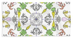Kaleidoscope Rabbits Beach Towel