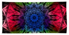 Kaleidoscope - Warm And Cool Colors Beach Towel
