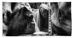 Kanarraville Falls Bw Beach Towel
