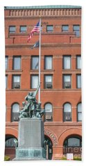 Kane County Courthouse Beach Towel by David Bearden