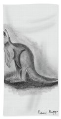 Kangaroo Drawing Beach Sheet