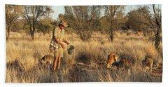 Kangaroo Sanctuary Beach Sheet