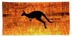 Kangaroo Sunset Beach Towel