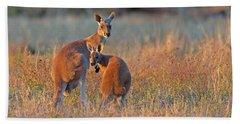 Kangaroos Beach Towel