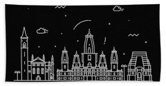 Kanpur Skyline Travel Poster Beach Towel