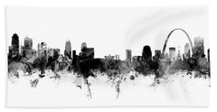 Kansas City And St Louis Skyline Mashup Beach Towel