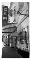 Beach Towel featuring the photograph Kansas City - Gem Theater 2 Bw  by Frank Romeo