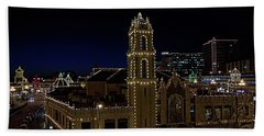 Beach Sheet featuring the photograph Kansas City Plaza Lights by Tim McCullough