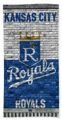 Kansas City Royals Brick Wall Beach Towel